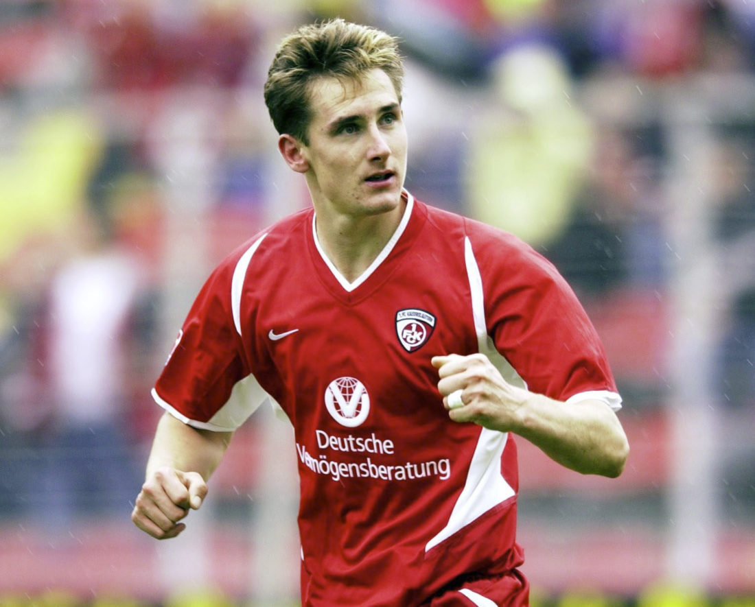 Miroslav Klose started out as a freshman at Kaisersalautern.