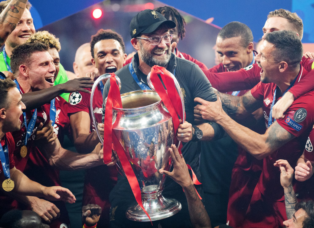 Ja, er hat ihn endlich! Jürgen Klopp gewinnt mit dem FC Liverpool die Champions League - zuvor hatte er mit den Reds und mit Borussia Dortmund in 2 Finals den kürzeren gezogen. (Photo by Matthias