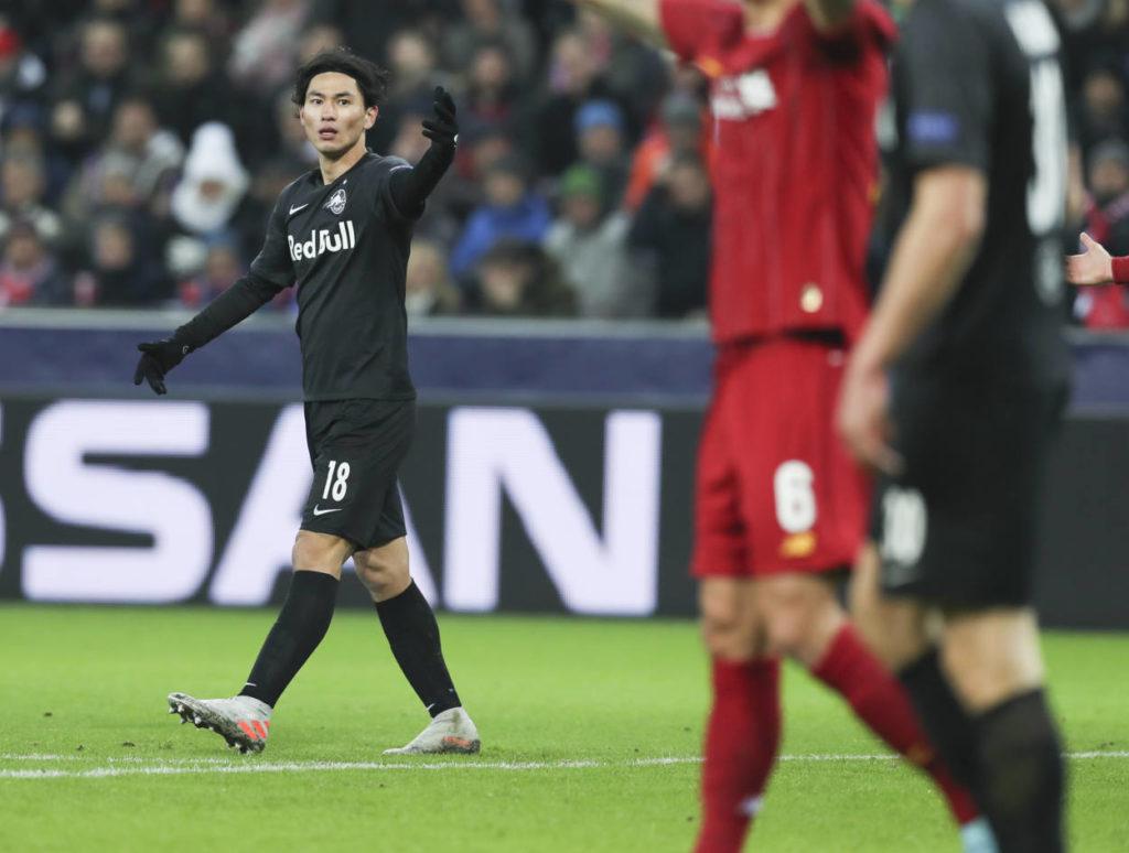 Takumi Minamino RB Salzburg FC Liverpool