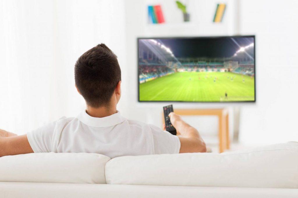 Fernseher, Fussball, Übertragung
