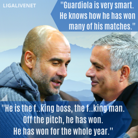 Pep Guardiola and Jose Mourinho quotes on each other