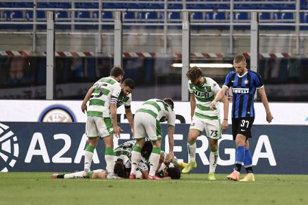 Inter Milan dropped points against Sassuolo after 3-3 draw. Antonio Conte's men are sitting 3rd in Serie A table with 58 points.