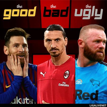 Messi, Zlatan, Rooney Plakat