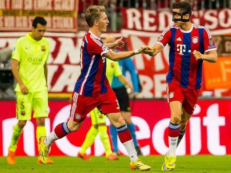 Schweinsteiger, Lewandowski, Bayern